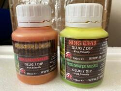 Natural Carp Dip / Glug Flavours 2 X 125ml Tubs With Amino Acids And Bait Smoke