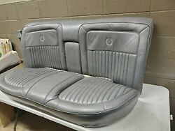 1987-1989 Cadillac Brougham Gray Rear Back Seat Upper And Lower Vinyl M12