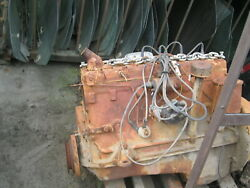 Ford Flat Head 6 Cylinder Engine As Core Complete With Trans Gear Box