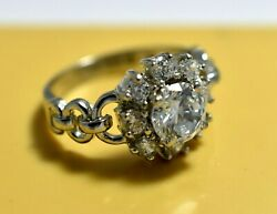 2 Ct- White Masonite Diamond Ring Aaa 925 Sterling Silver Engagement And Wedding.