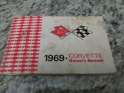 1969 Original 1st Edition Corvette Owners Manual With Full News Card/with Plan