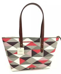 Fossil Womens Jayda Tote Red Multi $55.00