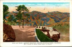 Postcard Wild Cat Point Look Out Fountain Denver Mountain Parks Colorado