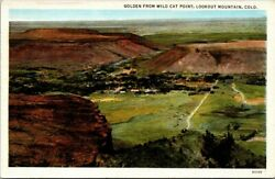 Postcard Golden from Wild Cat Point Look Out Mountain Colorado