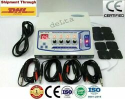 Best Model Upgraded Delta 4 Channel Electrotherapy Self Adhesive Pads Machine @e
