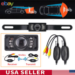 2.4G Car Wireless Reverse Rear View 7 IR Night Vision Parking Cam Backup Camera $17.77