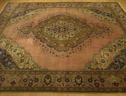 10 X 12 Handmade Antique 1930s Oushak Design Vintage Wool Rug _great Condition