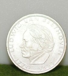 1970 F 5 Marks,federal Republic Of German, Silver World Coin,beethoven