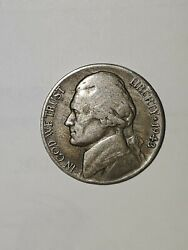 1943 P War Nickel. Extremely Rear,silver And Copper,great Condition.
