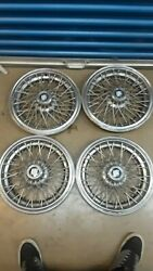 Set Of 4 Buick Wire Spoke Hubcaps Hub Caps W/ Round Centers Oem