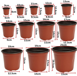 100Pcs Plastic Plant Flower Pots Nursery Seedlings Pot Plant US