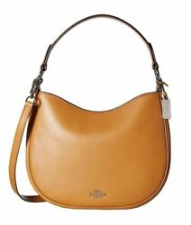 COACH 54446 Nomad Glovetanned Light Saddle Crossbody Women#x27;s Handbag New $159.20