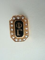 Usa Fraternity Pin Phi Gamma. Made In Gold 14k. Marked. 330
