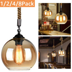 1248 Vintage Industrial Retro Loft Glass Hanging Ceiling Lamp Shade Pendant
