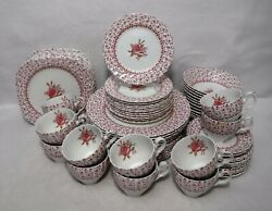Johnson Brothers China Rose Bouquet Pink Pattern 72pc Set Dinner/salad/cereal
