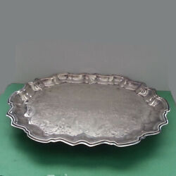 Vintage F.b.rogers Silver Co.1883 Silverplate Footed Serving Tray 14.5 X 11.5