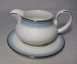 Royal Doulton China Lorraine H5033 Pattern 2 Piece Gravy Boat And Underplate