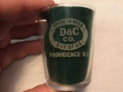 D And C Co. Vintage Etched Shot Glass, Providence, Rhode Island