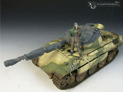 Arrowmodelbuild Panther D Tank With Cover Built And Painted 1/35 Model Kit