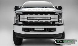 6315493 Black Main Grille W/ Camera Hole W/ 1 30 In. Led Light Bar T-rex