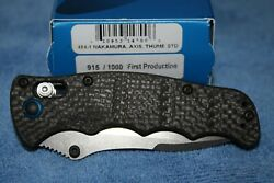 Benchmade 484-1 Nakamura Axis Lock Knife Carbon Fiber First Production 915/1000