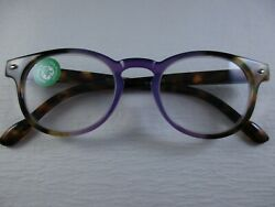 Key West Purple Lilac And Tortoise With Spring Temples Reading Glasses +2.25