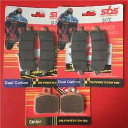 1200 Monster R S 14 16 Front And Rear Set Brake Pads Sbs Dual Carbon 841dc 730ls