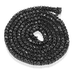 Black Diamond Chain Certified- Black Silver Hip Hop Menand039s Awesome Quality 24