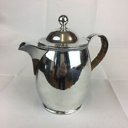 Vintage 1931 Ellis And Co Solid Silver Hot Water / Milk Jug Arts And Crafts Type