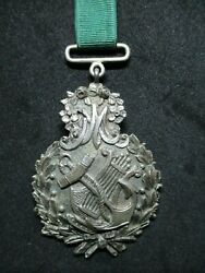 Portugal - Beautiful Antique 19th Century Silver Honor Medal - Navy - Rare
