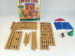 Lincoln Logs Great Pine Lodge 93 Out Of 103 Pieces, Original Box Incomplete