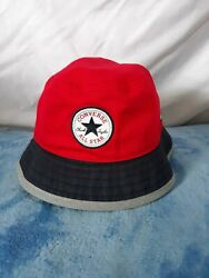 CONVERSE ALL STAR BLUE RED BUCKET HAT SIZE S M Chuck Taylor EUC $18.60