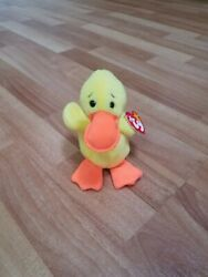 Retired Ty Beanie Baby Quackers Duck Rare With Multiple Errors Pvc 1993-94