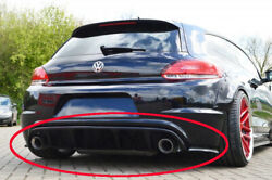 Performance Rear Bumper Diffuser With Side Splitters Forvw Scirocco R13 09-14