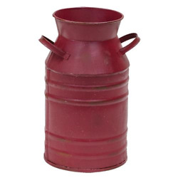 Red Milk Can Vintage Style Red Metal Can Christmas Can Centerpiece Dairy Can 11