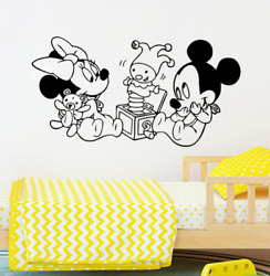 Disney Mickey Minnie Mouse Wall Stickers Removable Wall Stickers For Kids Rooms