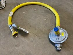 Tands Hose Masters Yellow 3/4 Gas Connector W/maxitrol Regulator Quick Disconnect