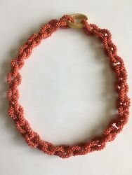 Antique Chinese Red Coral Bead Necklace 18th-19th