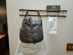 MARC BY MARC JACOBS New Q Hillier Hobo AND Vertical Zip Wallet Set MINT $225.00