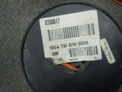 10 Gauge Orange/white Automotive,tractor, Boat And General Service Wire 500ft