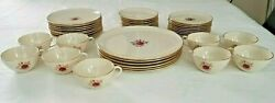 Lenox Roselyn Pattern X-304 Vintage Lot Of 42 Pieces China Dinnerware