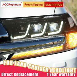 For Toyota Land Cruiser Headlights Assembly All Led Lens Projector Led Drl 17-20