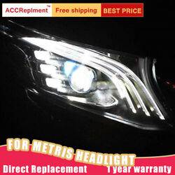 2pcs For Benz Metris Headlights Assembly 2016-2020 Led Lens Projector Led Drl