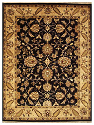 9x12 One-of-a-kind Hand Knotted Area Rug Traditional Design Wool
