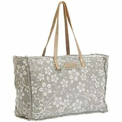 Chalky Upcycled Canvas amp;amp Leather Weekender Bag S 1473 Travel Totes $58.68