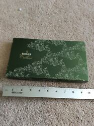 Rolex Cellini Vip Novelty Long Wallet Leather Green Very Rare