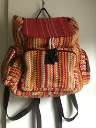 NEW Bella Taylor Tabitha Backpack Travel amp; Totes Rucksack Tomato Red Multi $44.95