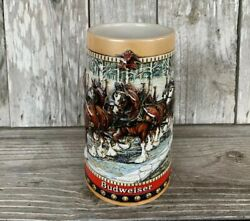 Budweiser Holiday Stein 1988 Collector's Series Hand Crafted For Anheiser-busch