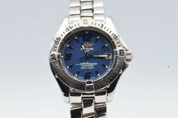 Breitling Colt Oceane Women's Watch A57350 With Steel Band Quartz 1 1/4in Blue
