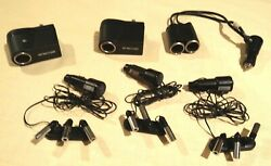 Mini Led Lights - Purple - Dc Powered Pivoting 3 Sets Of 3 With Ac Adapters